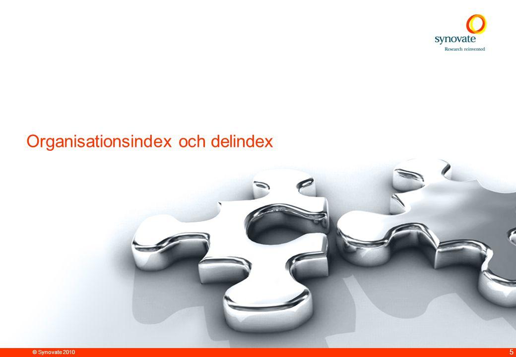 © Synovate 2010 5 Organisationsindex och delindex