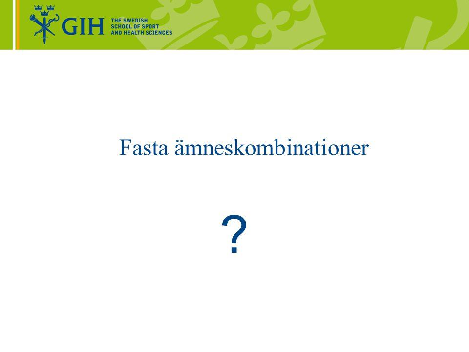 HSV - förordningar Prövning av nya lärarexamina – Högskoleverket Examenstillstånd – ämneslärare åk 7-9 http://www.hsv.se/download/18.4dfb54fa12d0dded8958000276 7/examenstillstand-amneslarare-ak7-9.pdf Examenstillstånd – ämneslärare gymnasieskolan http://www.hsv.se/download/18.4dfb54fa12d0dded8958000276 8/examenstillstand-amneslarare-gymnasieskolan.pdf Etc.