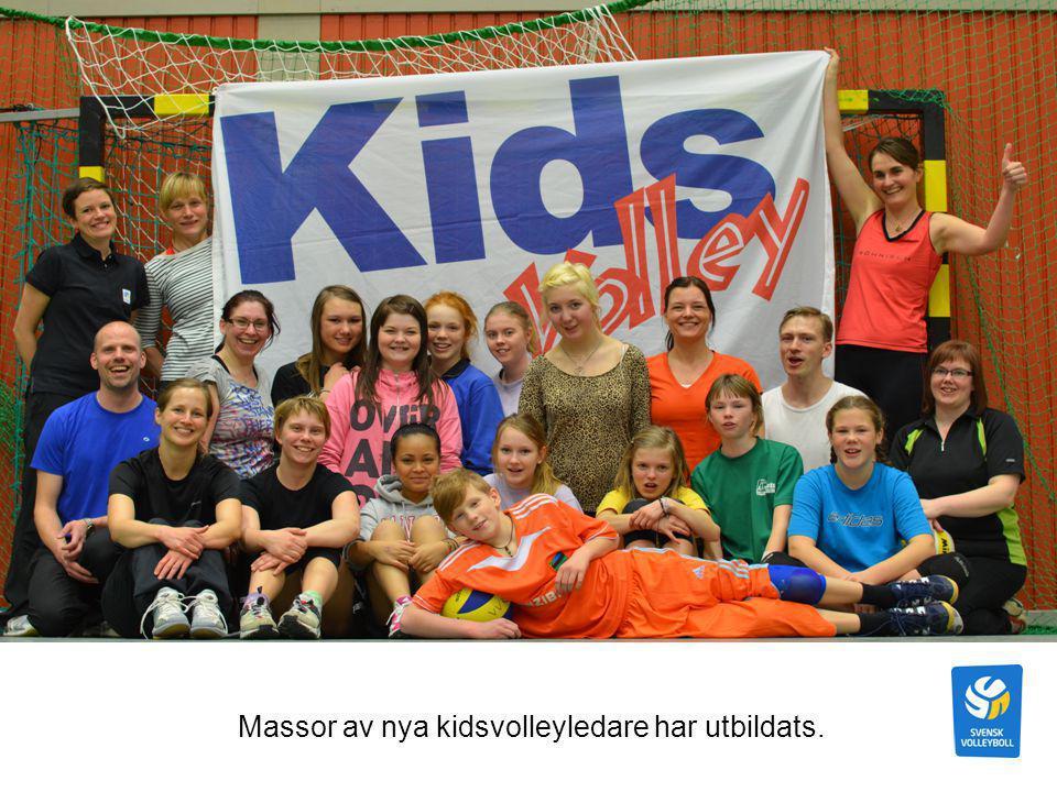 Höstcupen i kidsvolley med barn från Umeå-/Vännäsområdet oktober 2012
