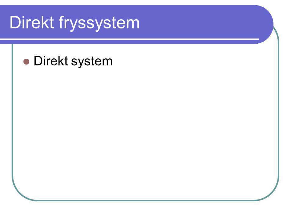 Direkt fryssystem Direkt system