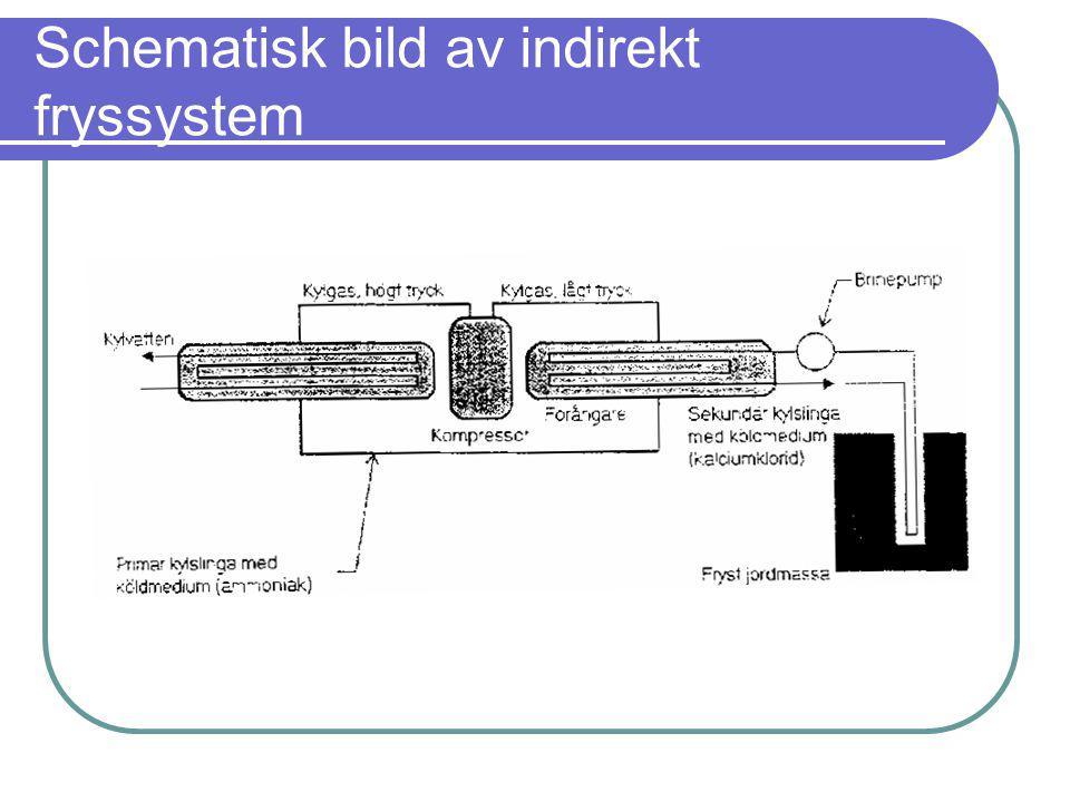 Schematisk bild av indirekt fryssystem