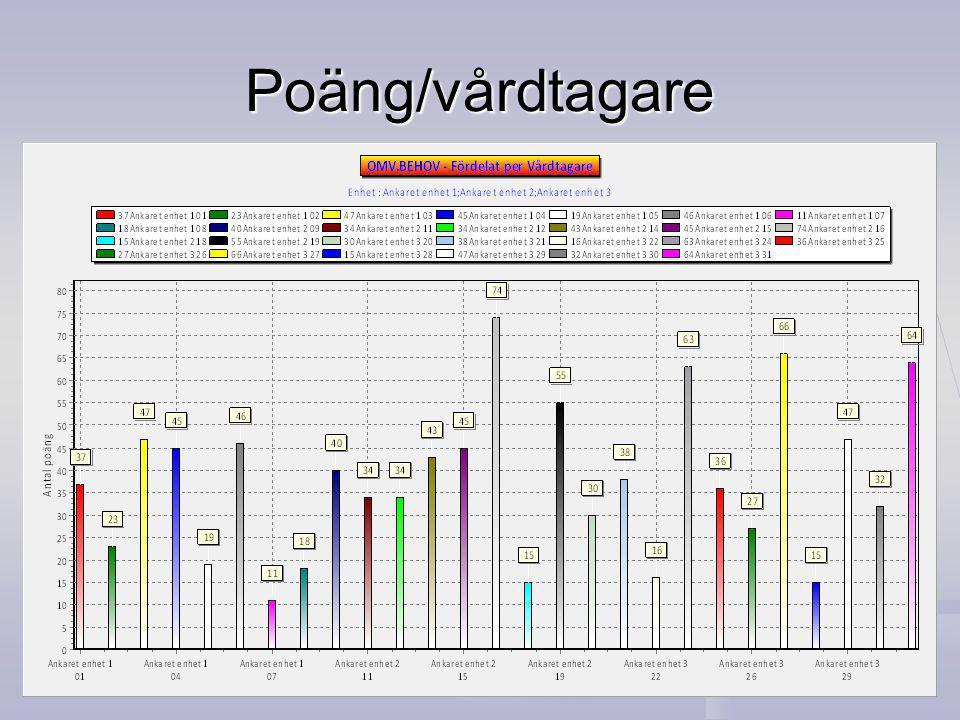 Poäng/vårdtagare