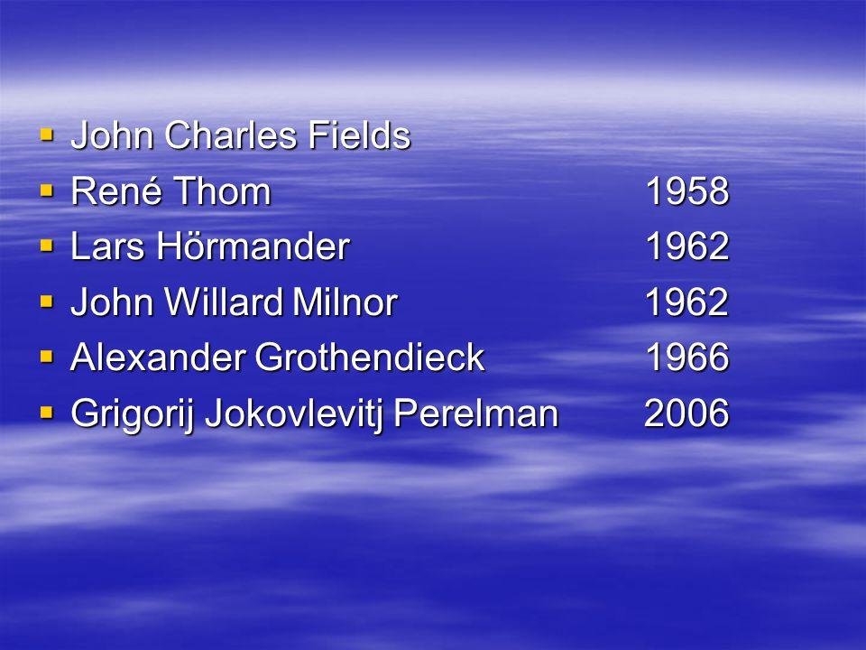 John Charles Fields 1868 - 1932
