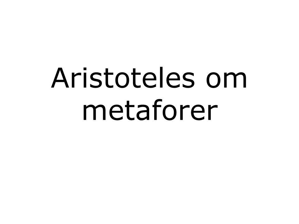 Aristoteles om metaforer