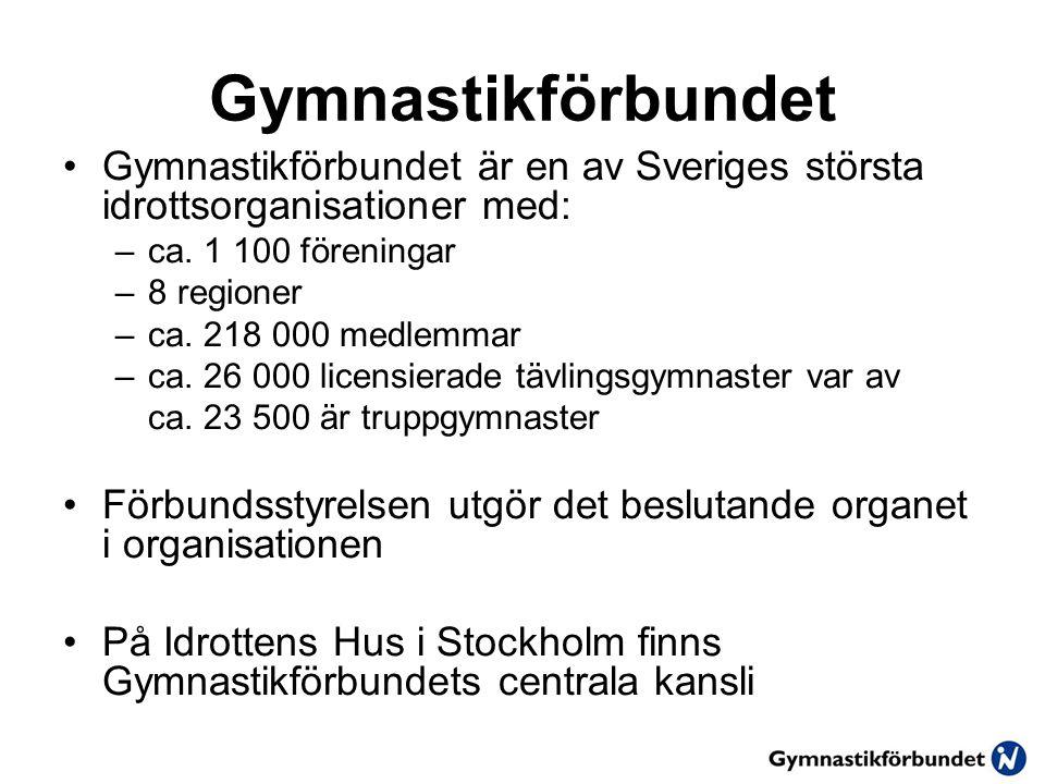 Gymnastikförbundet Gymnastikförbundet är en av Sveriges största idrottsorganisationer med: –ca.