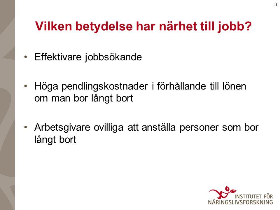 4 Vår studie En fördubbling av antalet (lågutbildades) jobb i närområdet 1990/91 förknippas med en sysselsättningsökning på 5 procentenheter 1999 Hur gick vi tillväga för att finna resultaten?