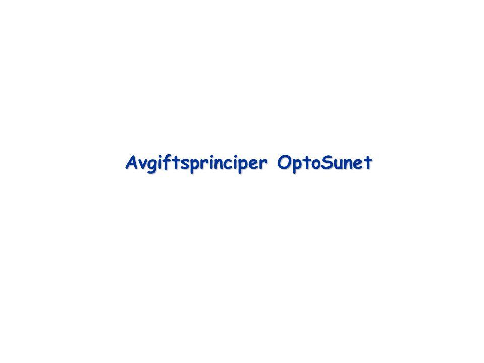 Avgiftsprinciper OptoSunet