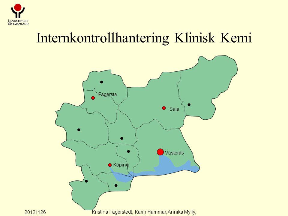 20121126 Kristina Fagerstedt, Karin Hammar, Annika Mylly, Mattias Karlman Patientprover jämförelser mellan instrument Hematologi Vissa patientnära analyter