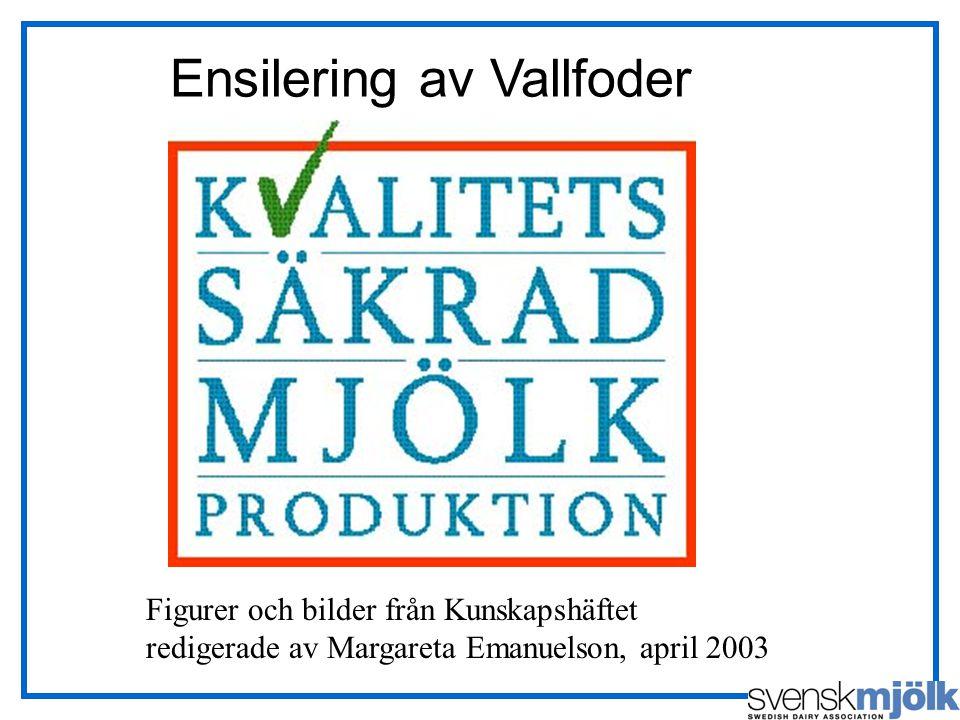 Figurer och bilder från Kunskapshäftet redigerade av Margareta Emanuelson, april 2003 Ensilering av Vallfoder