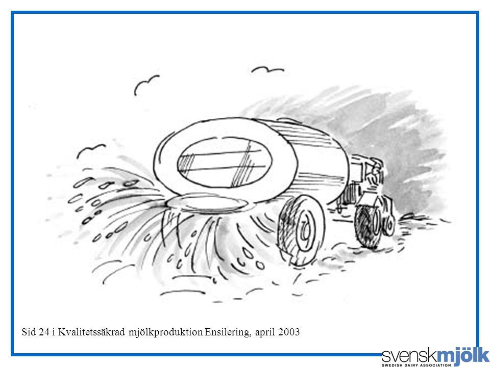 Sid 24 i Kvalitetssäkrad mjölkproduktion Ensilering, april 2003