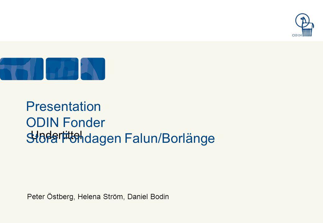 Undertittel Presentation ODIN Fonder Stora Fondagen Falun/Borlänge Peter Östberg, Helena Ström, Daniel Bodin