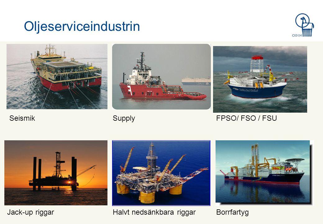 Oljeserviceindustrin SeismikSupplyFPSO/ FSO / FSU Jack-up riggarHalvt nedsänkbara riggarBorrfartyg