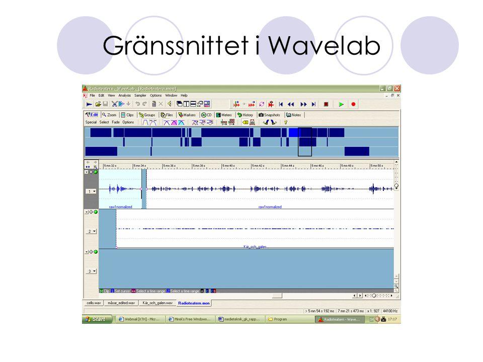 Gränssnittet i Wavelab