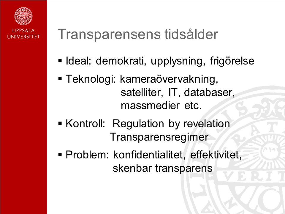 Strävan efter transparens – nya möjligheter för professionen verktyg för reflektion och utveckling verktyg för professionell legitimitet