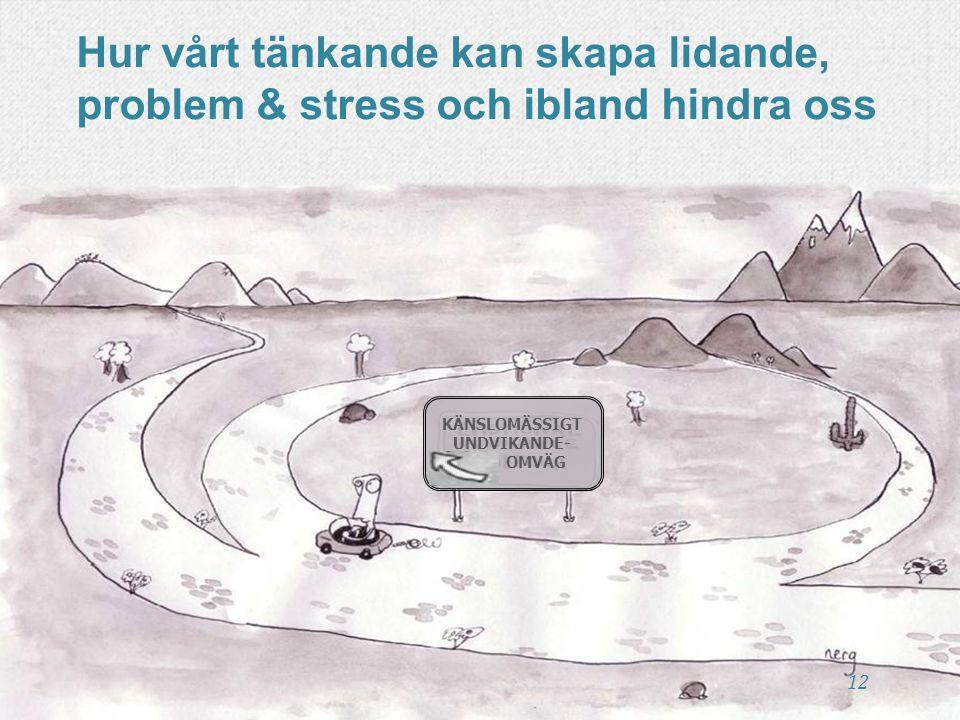 Hur vårt tänkande kan skapa lidande, problem & stress och ibland hindra oss KÄNSLOMÄSSIGT UNDVIKANDE- OMVÄG 12