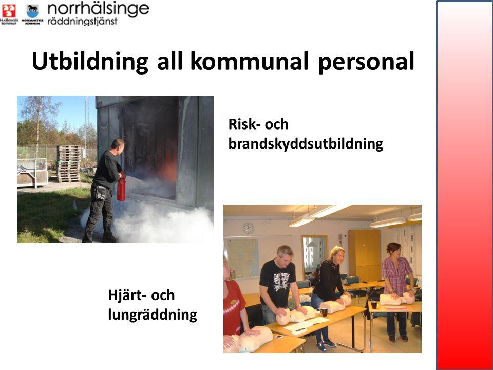 Utbildning all kommunal personal Risk- och brandskyddsutbildning Hjärt- och lungräddning