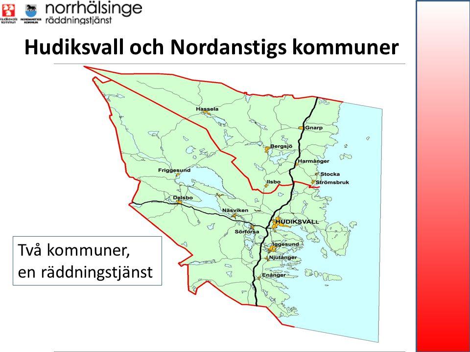 Hudiksvall och Nordanstigs kommuner Två kommuner, en räddningstjänst
