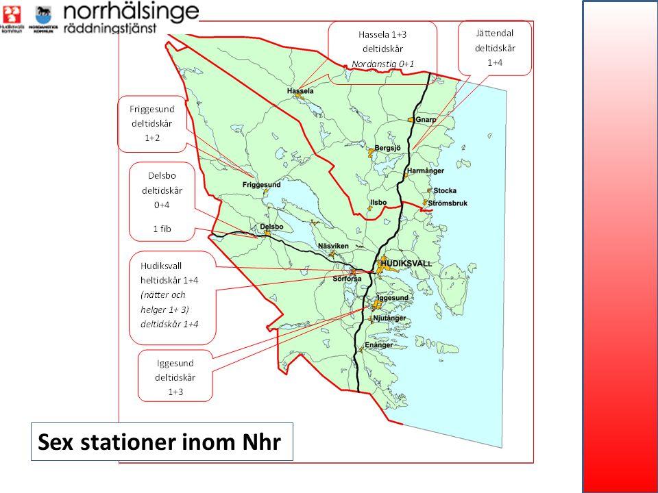 Sex stationer inom Nhr