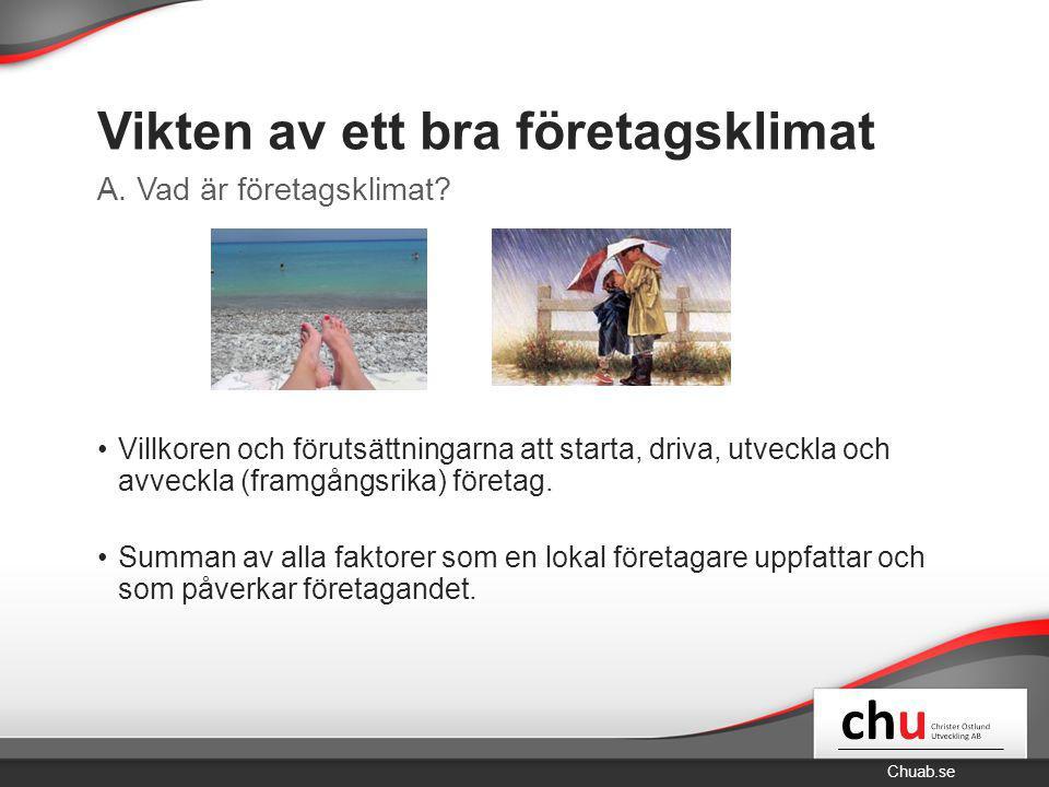 Chuab.se Vikten av ett bra företagsklimat Välstånd Företagande Sambandet