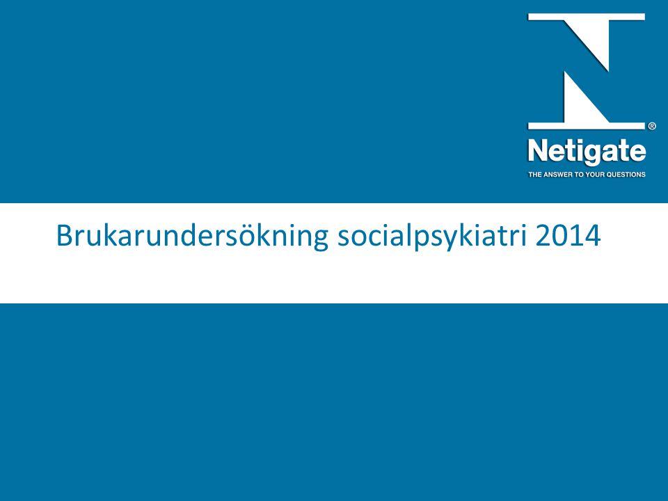 Brukarundersökning socialpsykiatri 2014