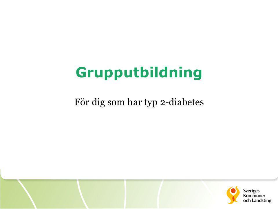 Grupputbildning För dig som har typ 2-diabetes