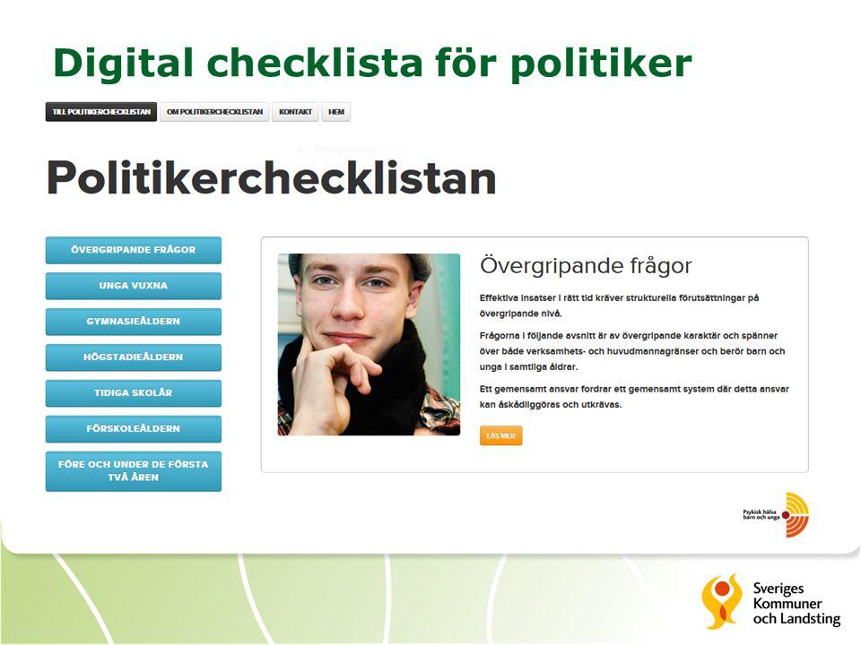 Digital checklista för politiker