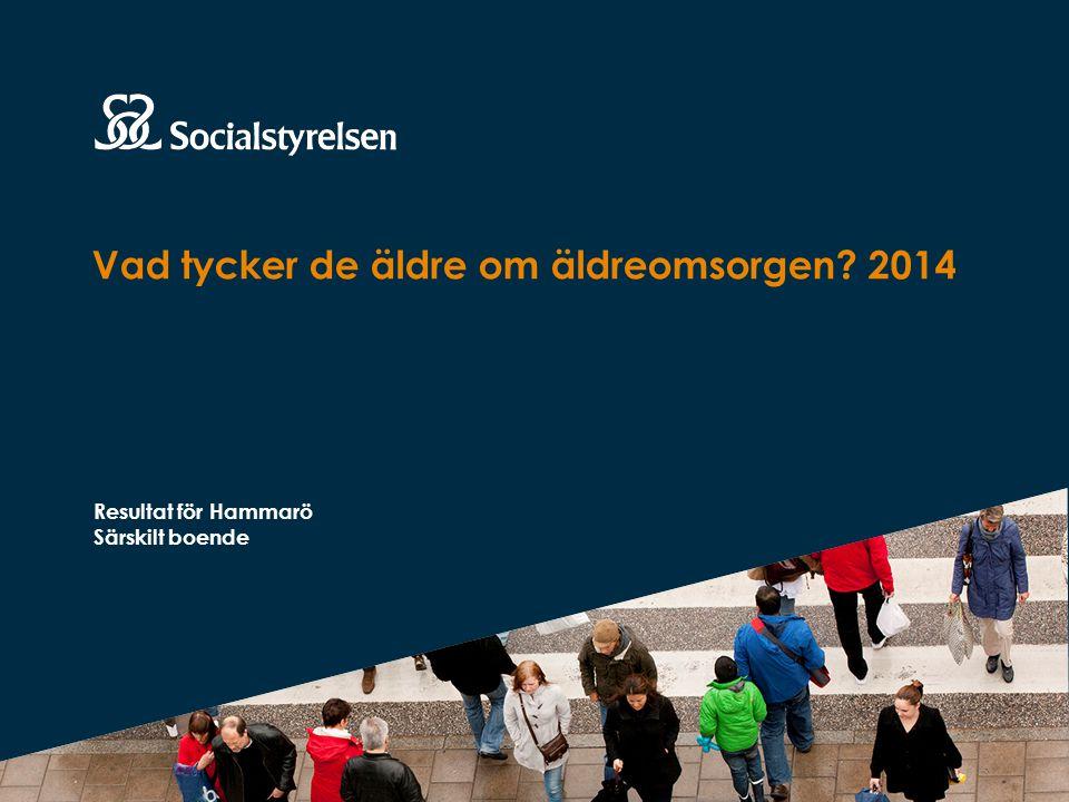 Vad tycker de äldre om äldreomsorgen 2014 Resultat för Hammarö Särskilt boende