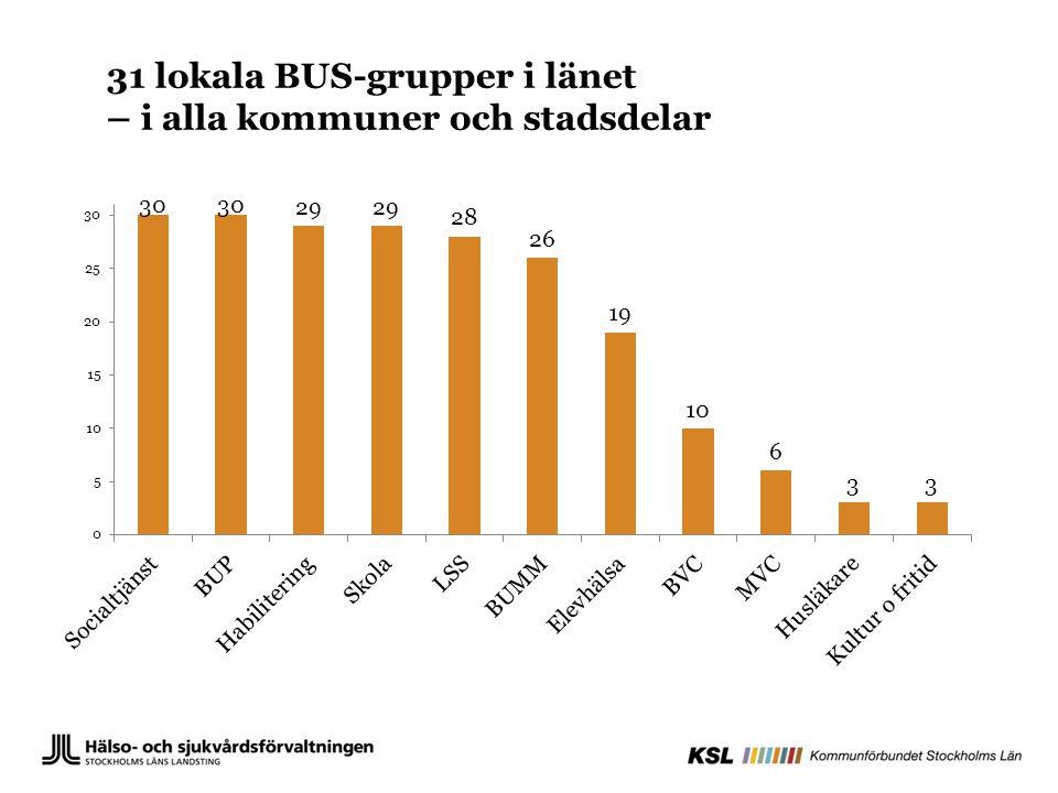 31 lokala BUS-grupper i länet – i alla kommuner och stadsdelar