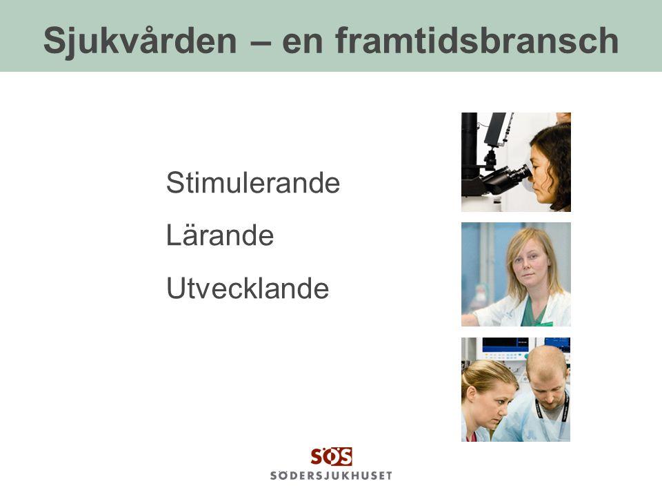 Sjukvården – en framtidsbransch Stimulerande Lärande Utvecklande