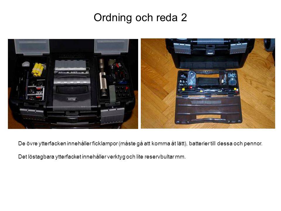 Ordning och reda 3 Den övre väskan består av två delar.