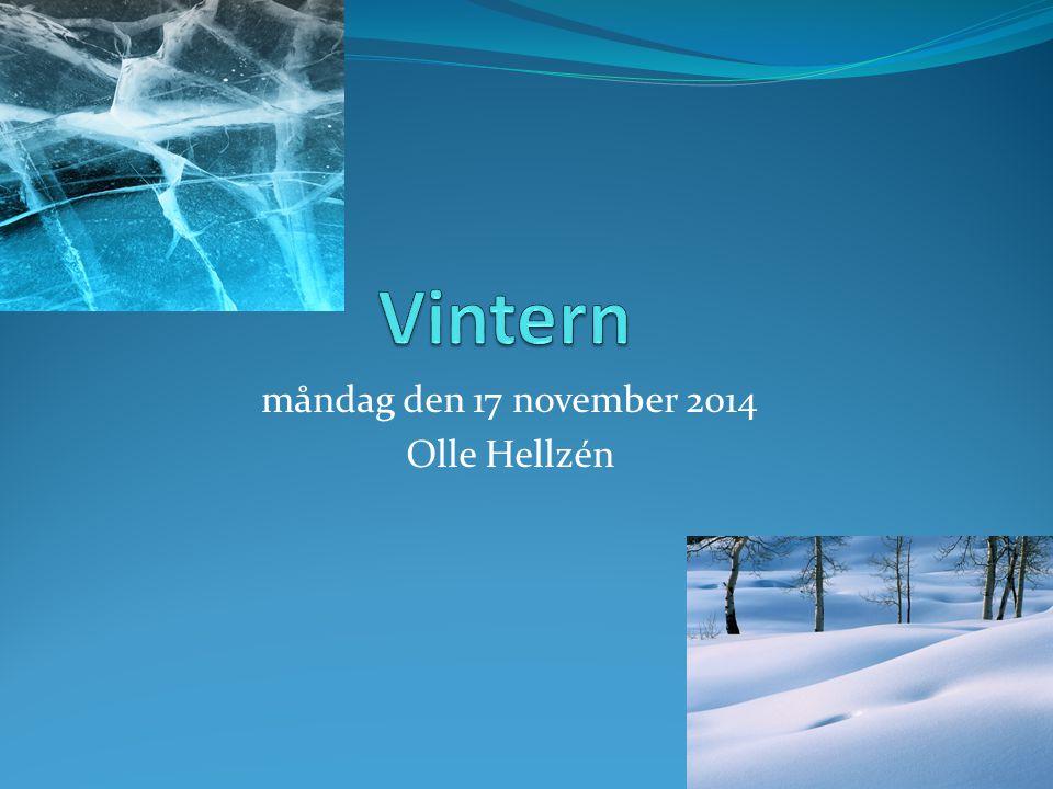 måndag den 17 november 2014 Olle Hellzén