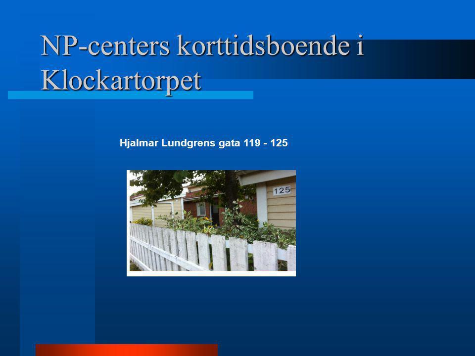 Hjalmar Lundgrens gata 119 - 125 NP-centers korttidsboende i Klockartorpet