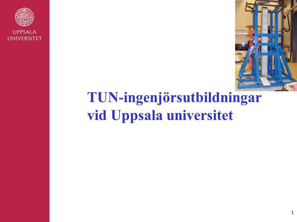 1 TUN-ingenjörsutbildningar vid Uppsala universitet