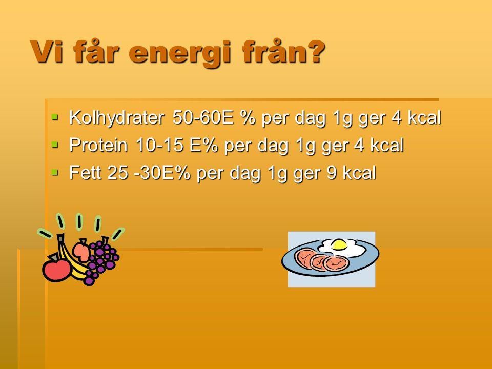 Vi får energi från.