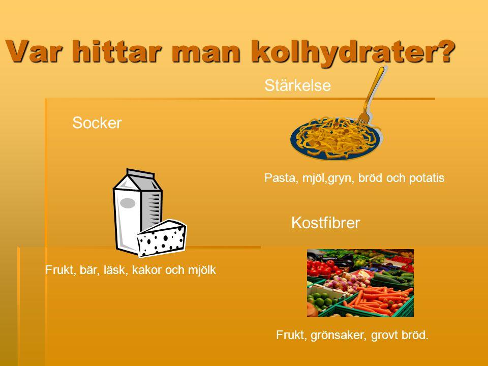 Var hittar man kolhydrater.