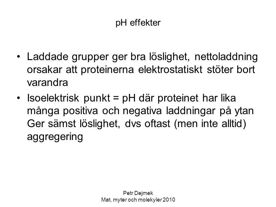 Petr Dejmek Mat, myter och molekyler 2010 Kött