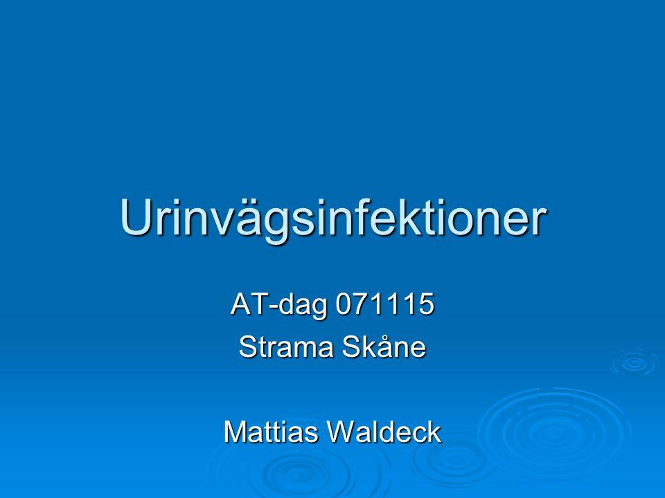 Urinvägsinfektioner AT-dag 071115 Strama Skåne Mattias Waldeck
