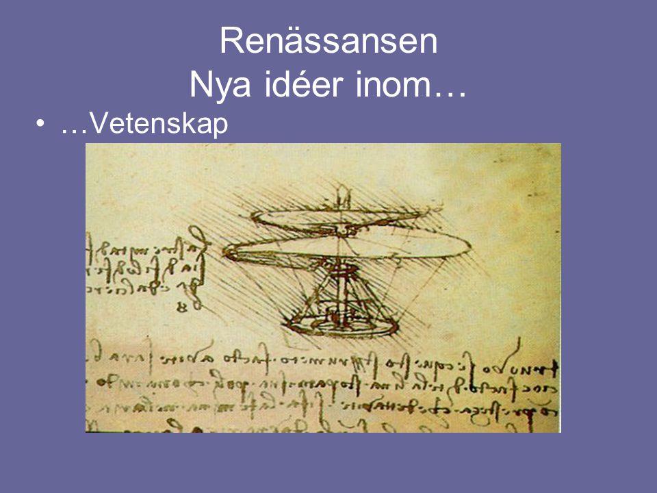 Renässansen Nya idéer inom… …Vetenskap
