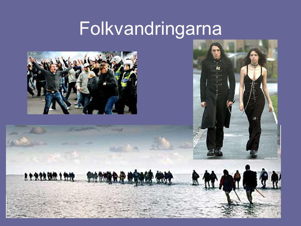 Öst och väst Östrom – Städer Västrom – Lantgods  Folkvandringarna gör handel svår att bedriva