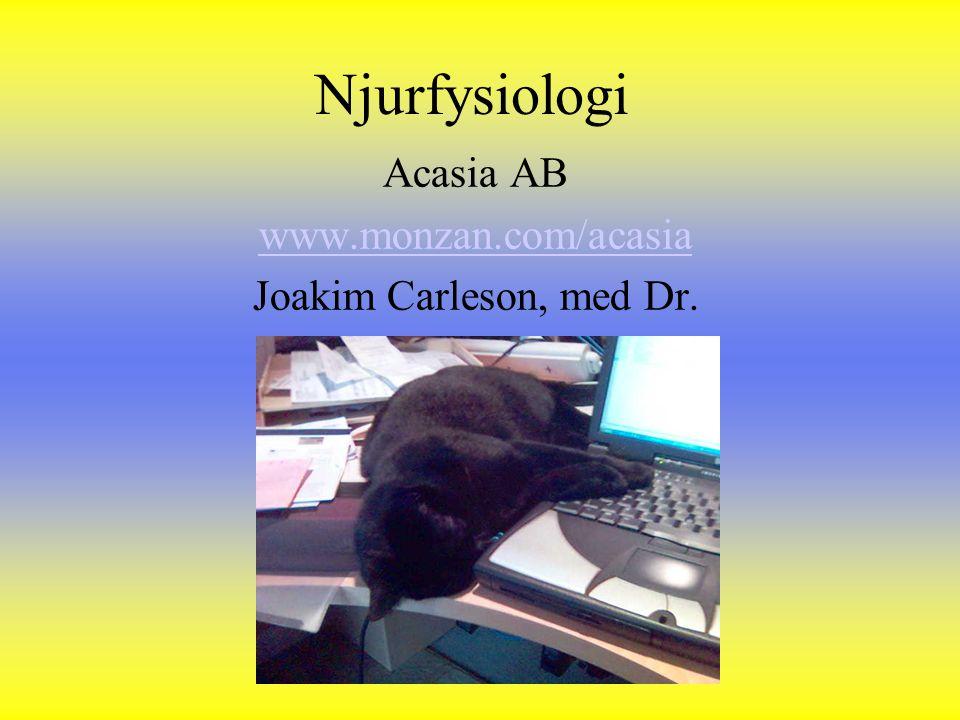 Njurfysiologi Acasia AB www.monzan.com/acasia Joakim Carleson, med Dr.