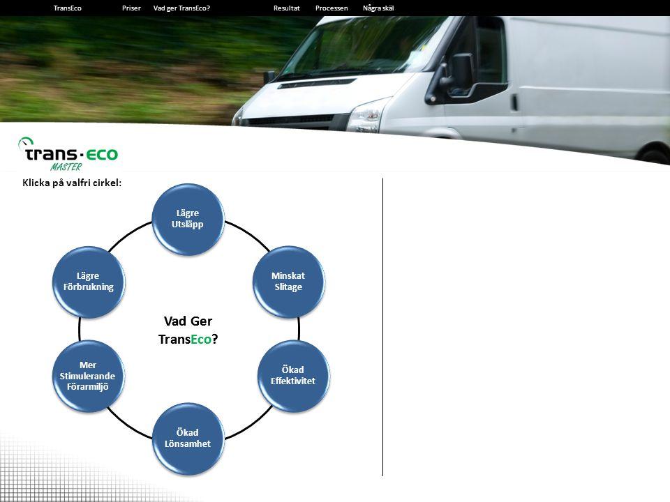 2014-12-139 9 Lägre Förbrukning - Få mer kraft där och när den behövs - Växla och nå marschfart mycket tidigare - Ligg på högre växel i uppförsbackar - Ligg på högre växel vid omkörning - Ligg på högre växel i lägre hastighet Resultat: Cirka 10% lägre förbrukning Vad Ger TransEco.