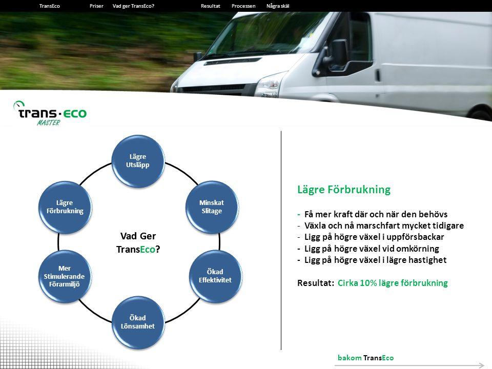 2014-12-13102014-12-1310 Ökad lönsamhet 10% lägre förbrukning = 10% lägre bränslekostnader Exempel Exempelfordonet förbrukar: 5L/10 km Mil per månad:1200 mil Dieselpris (exkl.