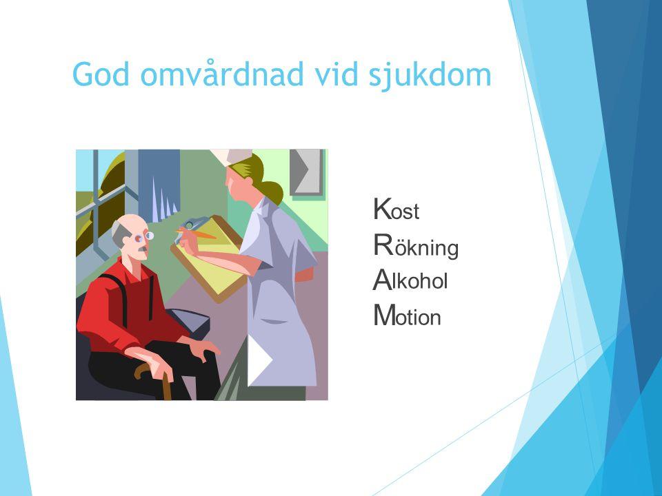 KRAMKRAM ost ökning lkohol otion God omvårdnad vid sjukdom
