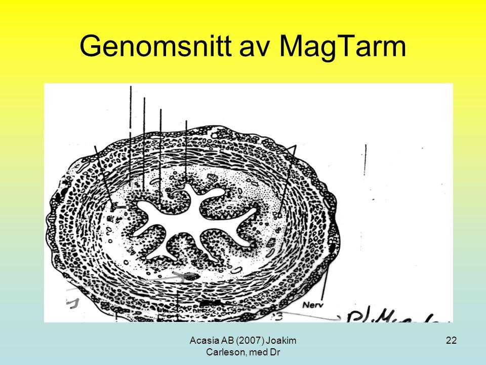 Acasia AB (2007) Joakim Carleson, med Dr 22 Genomsnitt av MagTarm