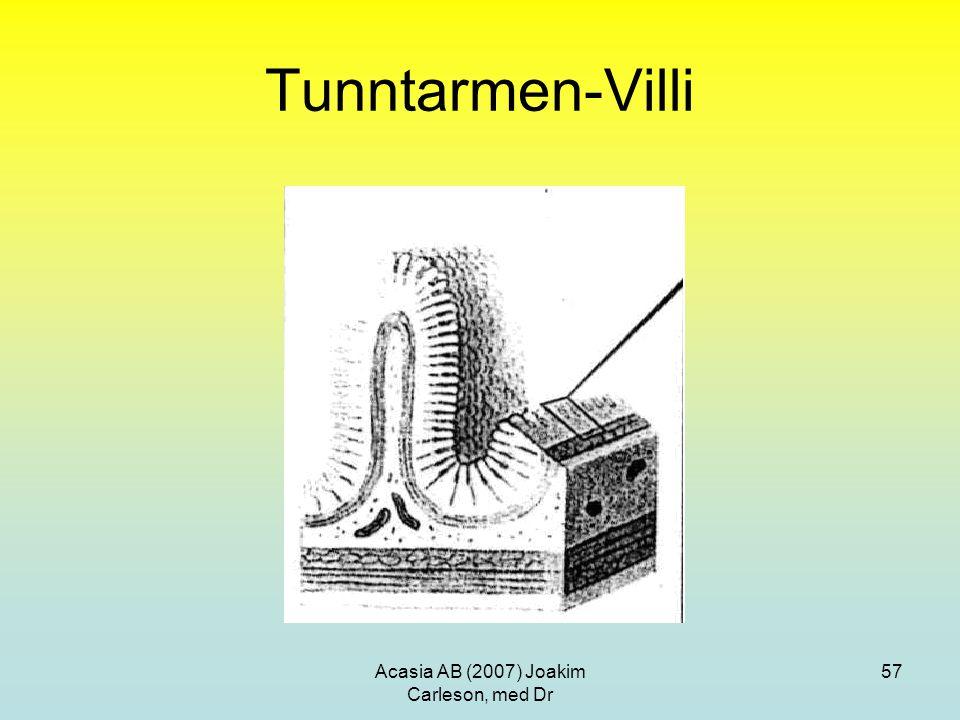 Acasia AB (2007) Joakim Carleson, med Dr 57 Tunntarmen-Villi