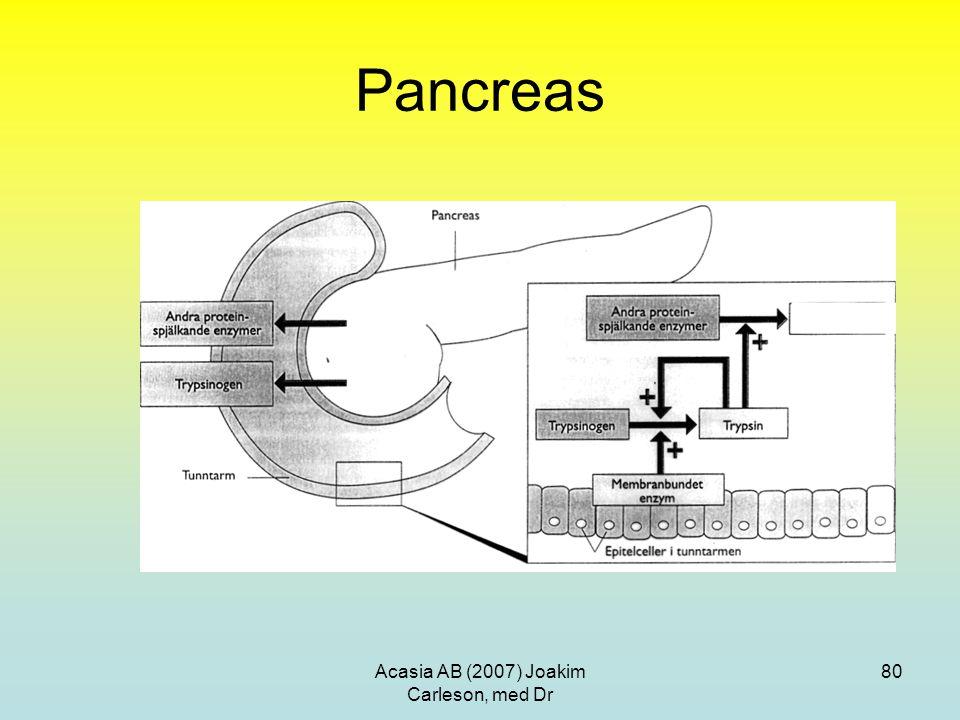 Acasia AB (2007) Joakim Carleson, med Dr 80 Pancreas
