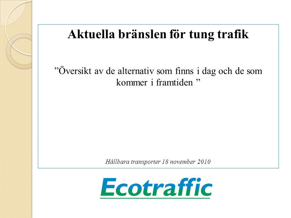 Ecotraffic Ecotraffic står fri från grupperingar och särintressen, har en hög integritet med ambitionen att vara så objektiv och vetenskaplig som möjligt och bara rekommendera långsiktigt hållbara lösningar