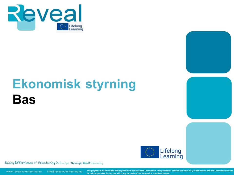 Ekonomisk styrning Bas This project has been funded with support from the European Commission.