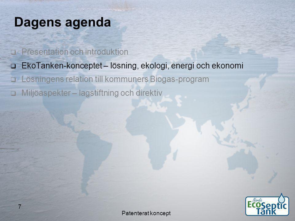 Patenterat koncept 28 Sveriges åtaganden i Baltic Sea Action Plan Miljöministrarna i länderna kring Östersjön beslöt den 15 november 2007 om ett gemensamt åtgärdsprogram HELCOM Baltic Sea Action Plan (BSAP).
