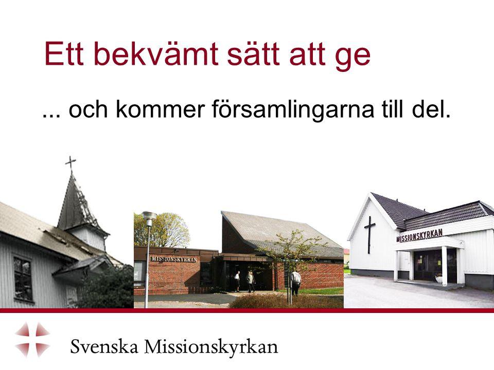 ... och kommer församlingarna till del. Ett bekvämt sätt att ge